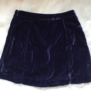 Urban Outfitters Velvet Button Down Skirt